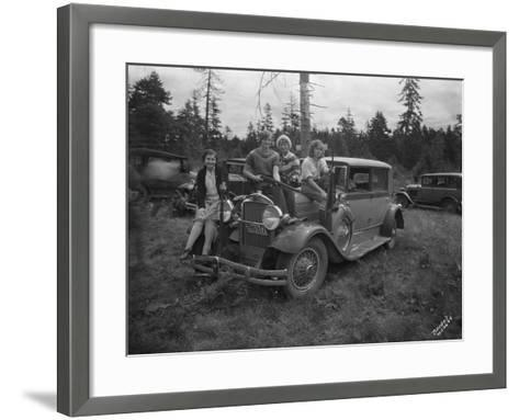 Group of Women with Rifles, 1930-Marvin Boland-Framed Art Print