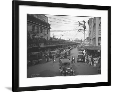Pike Place Market, Seattle, WA, 1931-Ashael Curtis-Framed Art Print