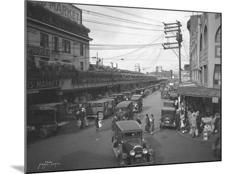 Pike Place Market, Seattle, WA, 1931-Ashael Curtis-Mounted Giclee Print