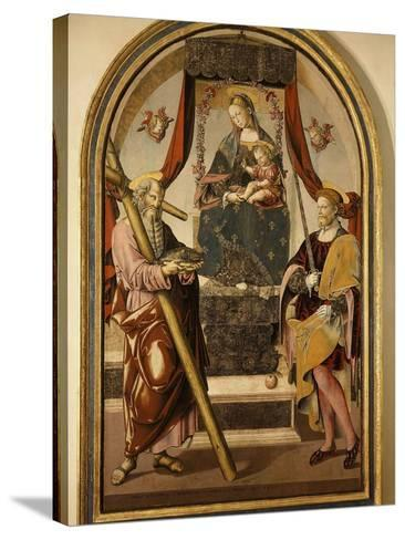 Madonna and Child with Saints-Bernardo Bellotto-Stretched Canvas Print