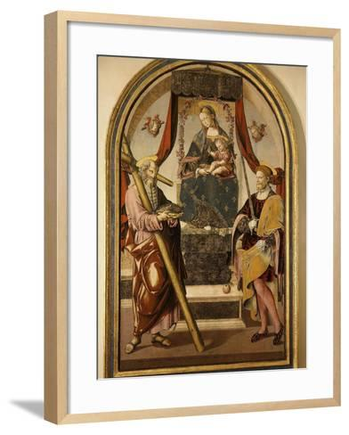 Madonna and Child with Saints-Bernardo Bellotto-Framed Art Print