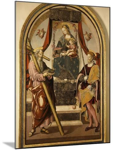 Madonna and Child with Saints-Bernardo Bellotto-Mounted Giclee Print
