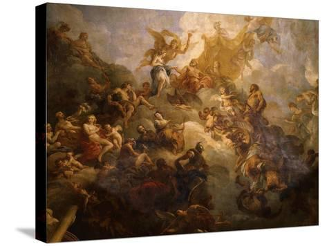 The Apotheosis of Hercules, Ceiling of Hercules Salon, Decorated 1710-Francois Lemoyne-Stretched Canvas Print