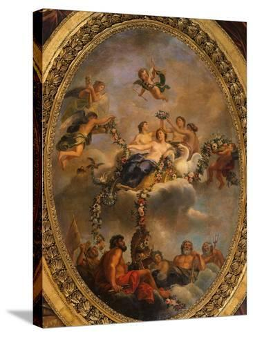 Venus Subjecting the Gods and the Powers to Her Empire, Ceiling, Salon of Venus-Ren? Antoine Houasse-Stretched Canvas Print