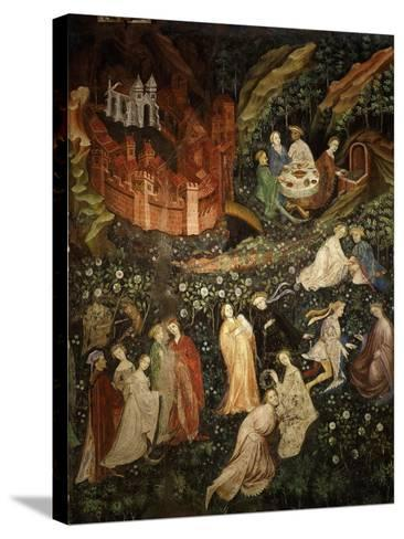 May, Fresco from Cycle of Months C.1400 Buonconsiglio Castle- Venceslao-Stretched Canvas Print