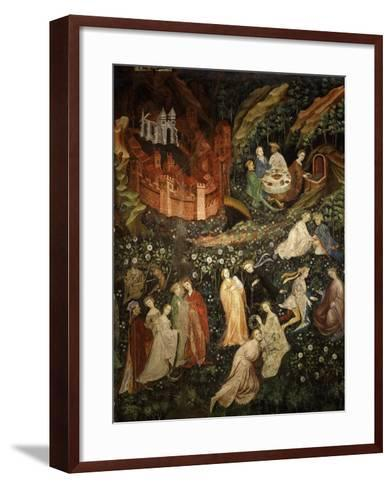 May, Fresco from Cycle of Months C.1400 Buonconsiglio Castle- Venceslao-Framed Art Print