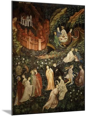 May, Fresco from Cycle of Months C.1400 Buonconsiglio Castle- Venceslao-Mounted Giclee Print