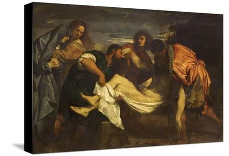 Christ's Deposition in the Tomb-Titian (Tiziano Vecelli)-Stretched Canvas Print