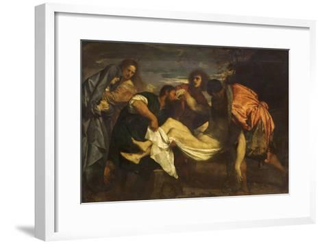 Christ's Deposition in the Tomb-Titian (Tiziano Vecelli)-Framed Art Print