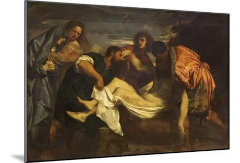 Christ's Deposition in the Tomb-Titian (Tiziano Vecelli)-Mounted Giclee Print