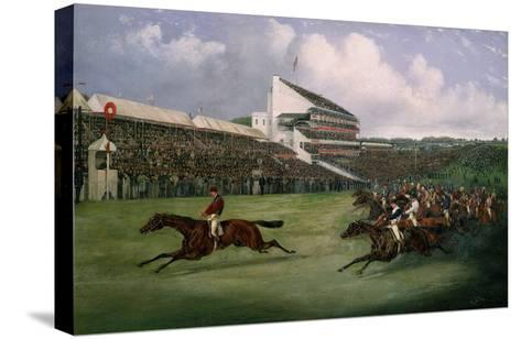 Finish of the Derby in 1865 (Won by Gladiator, Owned by the Count of Legrange)-Henry Thomas Alken-Stretched Canvas Print