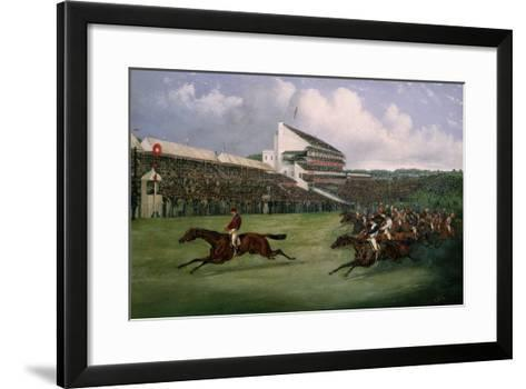 Finish of the Derby in 1865 (Won by Gladiator, Owned by the Count of Legrange)-Henry Thomas Alken-Framed Art Print