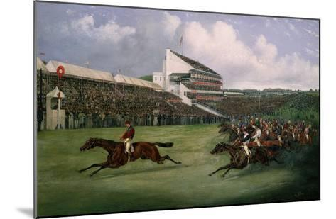 Finish of the Derby in 1865 (Won by Gladiator, Owned by the Count of Legrange)-Henry Thomas Alken-Mounted Giclee Print