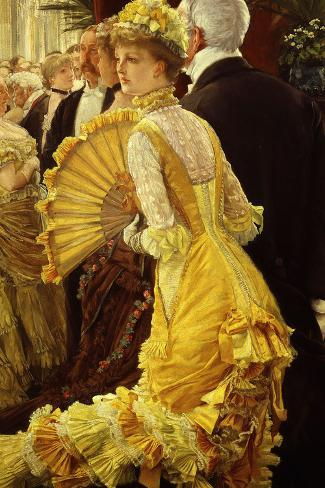Le Bal (The Ball)-James Tissot-Stretched Canvas Print
