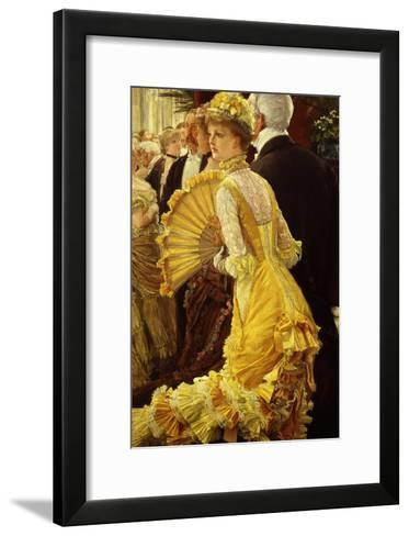 Le Bal (The Ball)-James Tissot-Framed Art Print