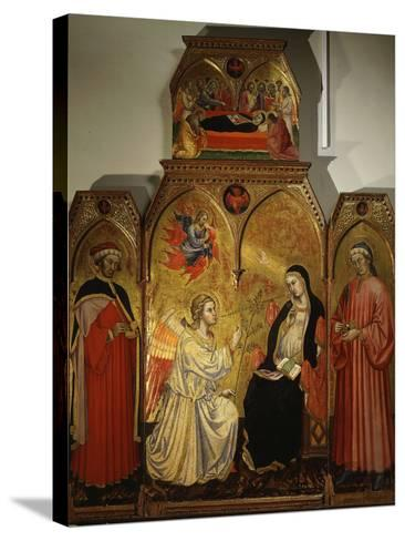 The Annunciation, with Saints Cosmas and Damian, 3rd Century Martyrs-Taddeo di Bartolo-Stretched Canvas Print