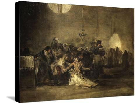 Exorcism Scene-Francisco de Goya-Stretched Canvas Print