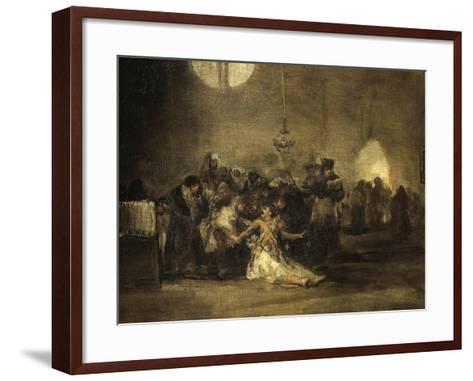 Exorcism Scene-Francisco de Goya-Framed Art Print