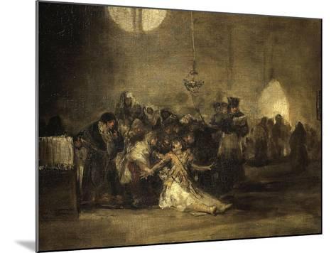 Exorcism Scene-Francisco de Goya-Mounted Giclee Print