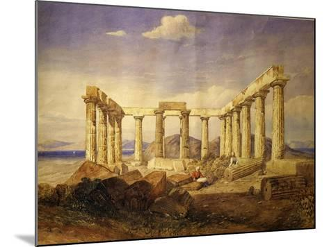 Temple of Aphaia, Aegina, Built C. 500 Bc, Watercolour, C.1805-Edward Dodwell-Mounted Giclee Print