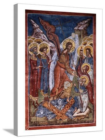 Anastasis, or Harrowing of Hell, Christ's Descent into Limbo, Exterior Fresco, 1537--Stretched Canvas Print