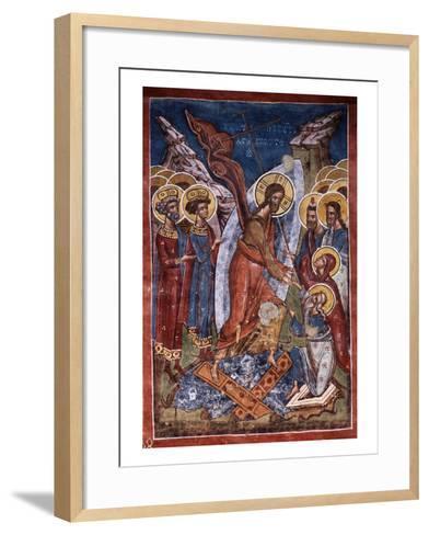 Anastasis, or Harrowing of Hell, Christ's Descent into Limbo, Exterior Fresco, 1537--Framed Art Print