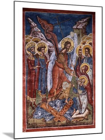 Anastasis, or Harrowing of Hell, Christ's Descent into Limbo, Exterior Fresco, 1537--Mounted Giclee Print