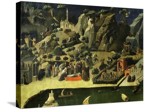 Hermit Life, from the Thebaid, C. 1420-Fra Angelico-Stretched Canvas Print