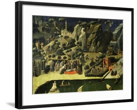Hermit Life, from the Thebaid, C. 1420-Fra Angelico-Framed Art Print