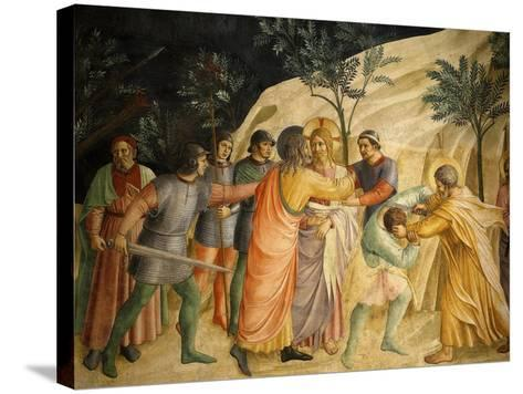 Arrest of Jesus and Judas' Kiss, Fresco 1437-45, Dormitory, Convent of San Marco, Florence, Italy-Fra Angelico-Stretched Canvas Print