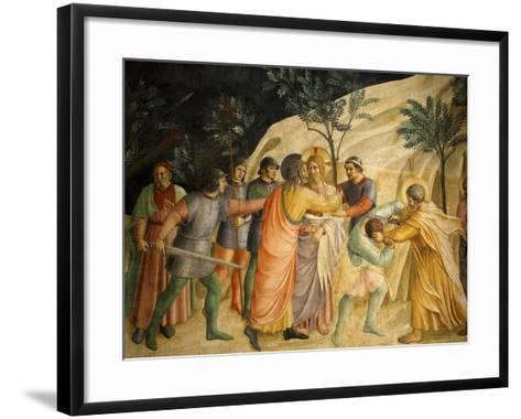Arrest of Jesus and Judas' Kiss, Fresco 1437-45, Dormitory, Convent of San Marco, Florence, Italy-Fra Angelico-Framed Art Print