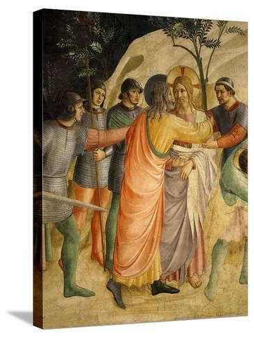 Arrest of Jesus and Judas' Kiss, Fresco 1437-45-Fra Angelico-Stretched Canvas Print