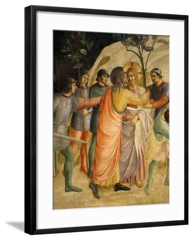 Arrest of Jesus and Judas' Kiss, Fresco 1437-45-Fra Angelico-Framed Art Print