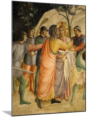 Arrest of Jesus and Judas' Kiss, Fresco 1437-45-Fra Angelico-Mounted Giclee Print