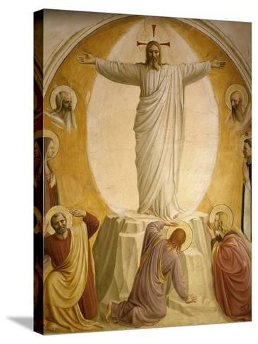 The Transfiguration, Fresco 1437-45, Dormitory, Convent of San Marco, Florence, Italy-Fra Angelico-Stretched Canvas Print