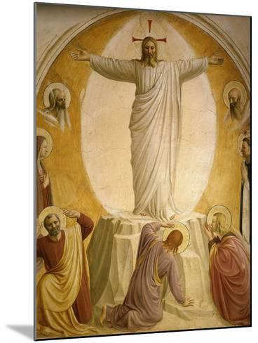 The Transfiguration, Fresco 1437-45, Dormitory, Convent of San Marco, Florence, Italy-Fra Angelico-Mounted Giclee Print