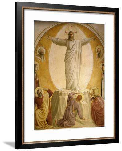 The Transfiguration, Fresco 1437-45, Dormitory, Convent of San Marco, Florence, Italy-Fra Angelico-Framed Art Print