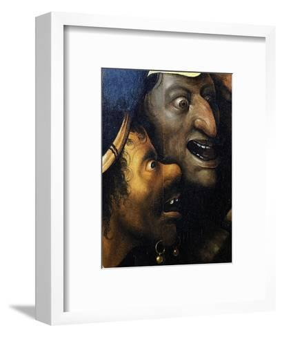Mocking Faces, from Christ Carrying the Cross, C. 1490 (Detail)-Hieronymus Bosch-Framed Art Print