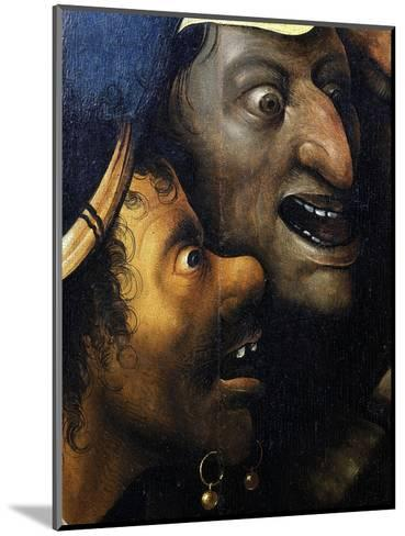 Mocking Faces, from Christ Carrying the Cross, C. 1490 (Detail)-Hieronymus Bosch-Mounted Giclee Print