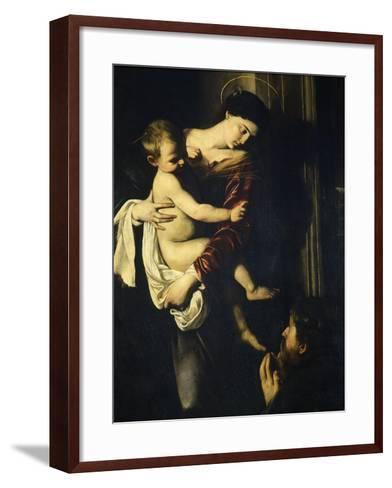 Madonna of the Pilgrims, Called the Loreto Madonna (Detail)-Caravaggio-Framed Art Print