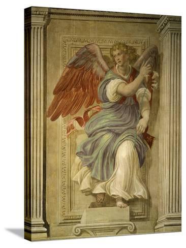 Angel Gabriel of the Annunciation, Fresco, Library-Francesco De Rossi Salviati Cecchino-Stretched Canvas Print