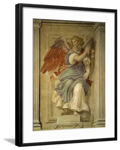 Angel Gabriel of the Annunciation, Fresco, Library-Francesco De Rossi Salviati Cecchino-Framed Art Print