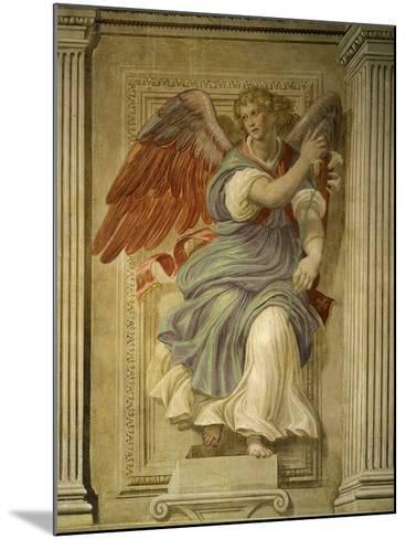 Angel Gabriel of the Annunciation, Fresco, Library-Francesco De Rossi Salviati Cecchino-Mounted Giclee Print