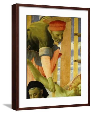 Joseph of Arimathea, from the Deposition of Christ, 1435 (Detail)-Fra Angelico-Framed Art Print