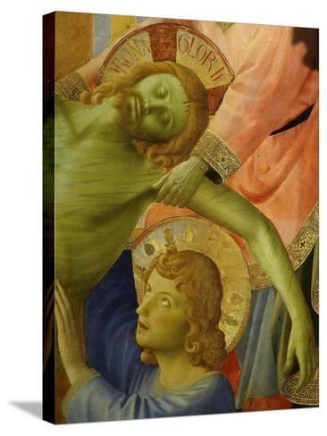 Christ and Saint John, from the Deposition of Christ, 1435, from Holy Trinity Altarpiece (Detail)-Fra Angelico-Stretched Canvas Print