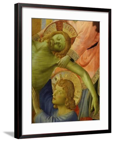Christ and Saint John, from the Deposition of Christ, 1435, from Holy Trinity Altarpiece (Detail)-Fra Angelico-Framed Art Print