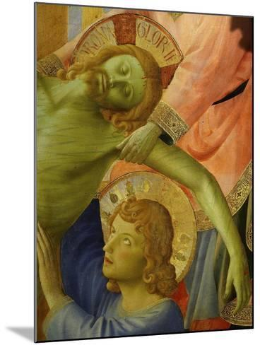 Christ and Saint John, from the Deposition of Christ, 1435, from Holy Trinity Altarpiece (Detail)-Fra Angelico-Mounted Giclee Print