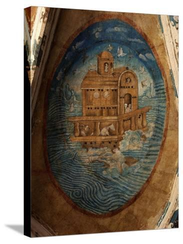 Noah's Ark, Fresco, 1562, Tecamachalco, Puebla, Mexico-Juan Gerson-Stretched Canvas Print