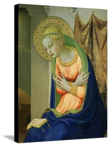 Virgin Mary, from Annunciation Altarpiece, 1430-35 (Detail)-Fra Angelico-Stretched Canvas Print