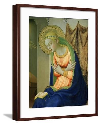 Virgin Mary, from Annunciation Altarpiece, 1430-35 (Detail)-Fra Angelico-Framed Art Print